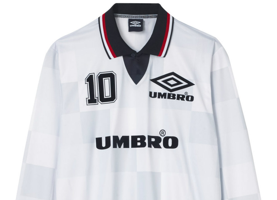 Umbro Monaco LS Football Tee - White