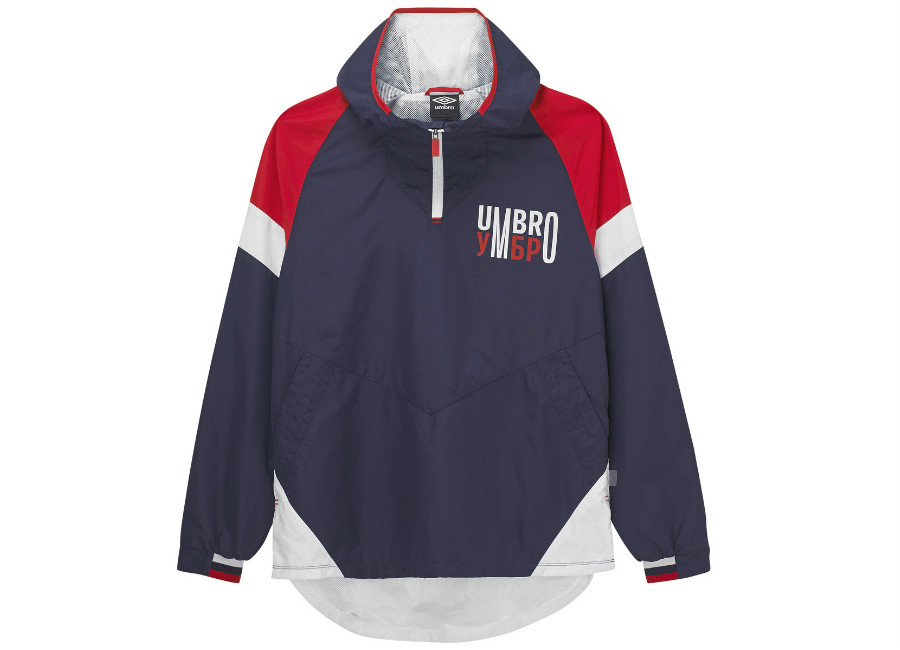 Umbro Quarter Zip Jacket - Eclipse / Brilliant White / High Risk Red