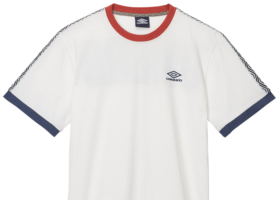 Umbro Ringer Tape Tee - White / Navy
