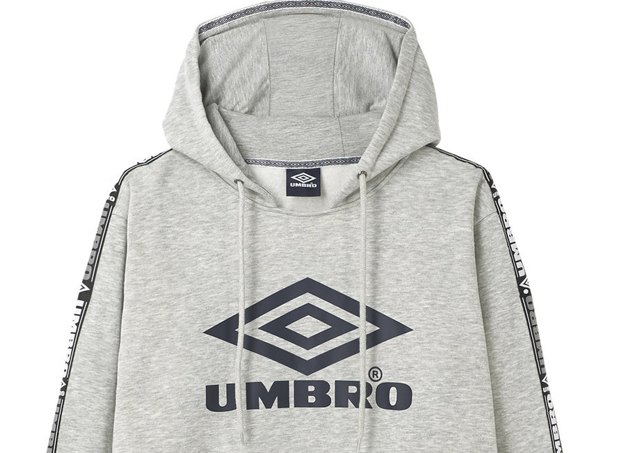 Umbro Taped OH Hood - Grey Marl