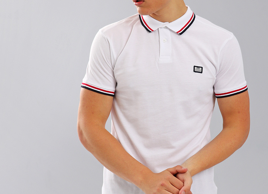 Weekend Offender Fender Polo Shirt - White