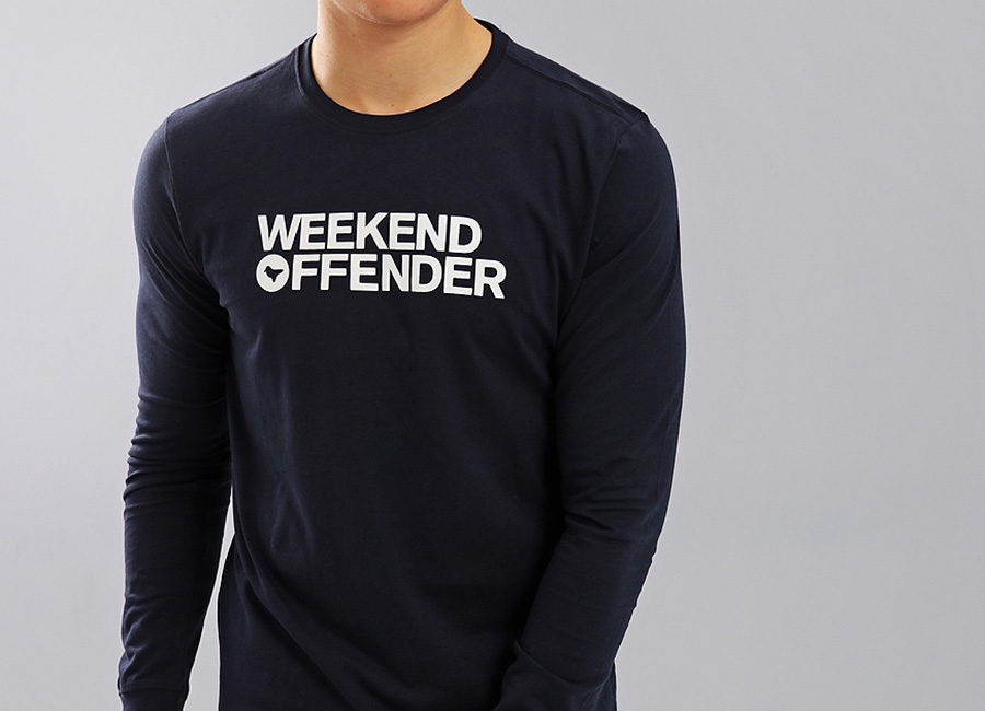 Weekend Offender Oscar Long Sleeve T-Shirt - Navy