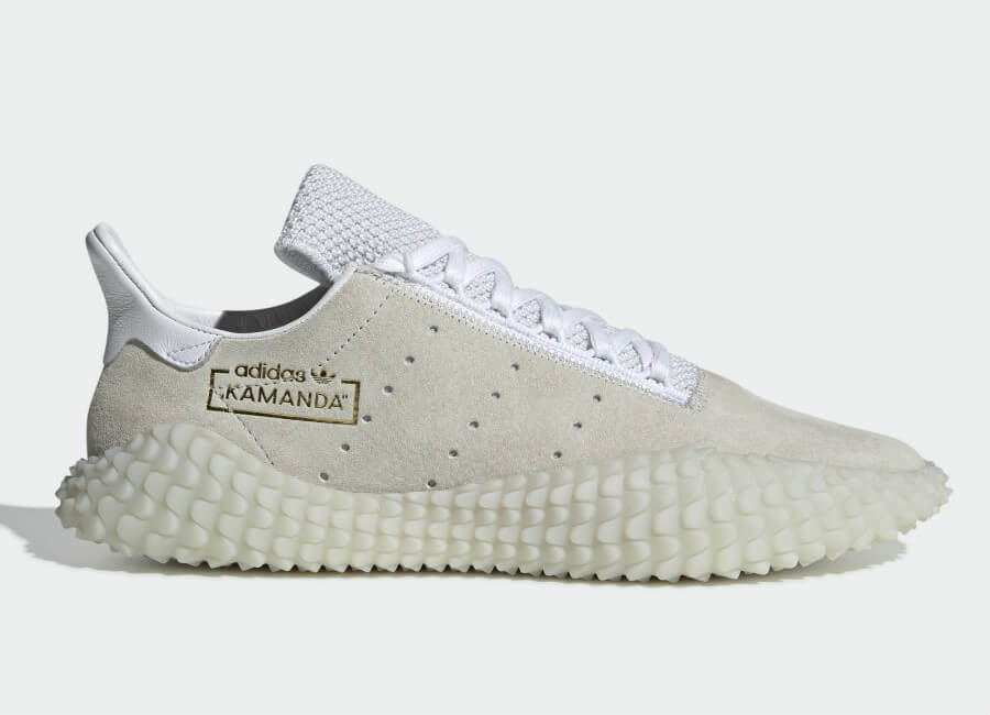 Adidas Kamanda 01 Shoes - Crystal White / Ftwr White / Gold Met