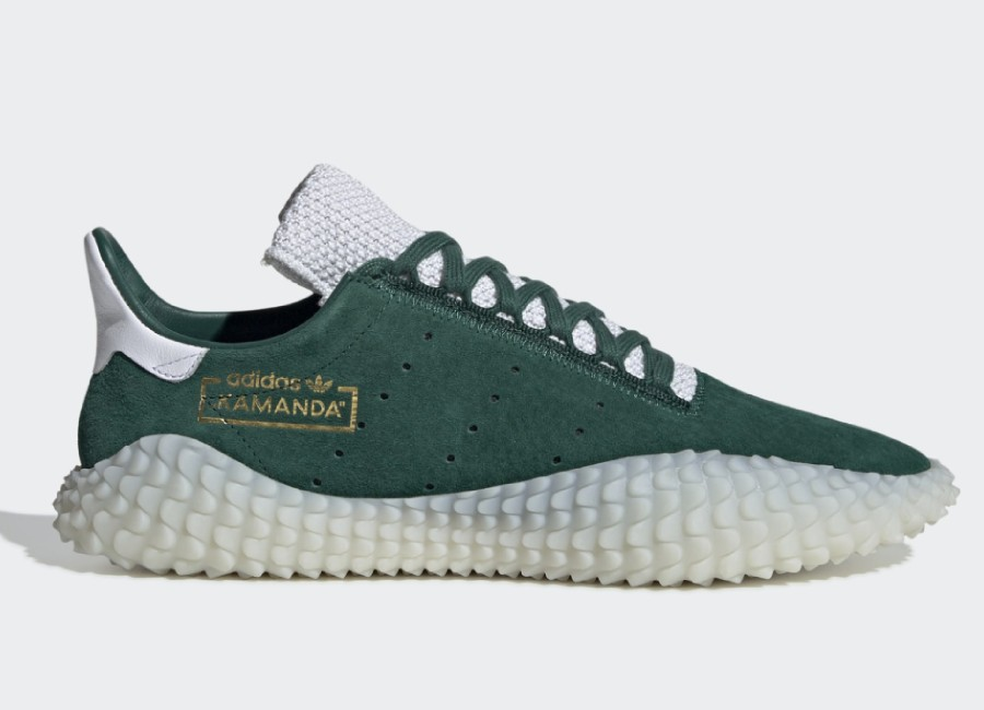 Adidas Kamanda Shoes - Collegiate Green / Crystal White / Ftwr White