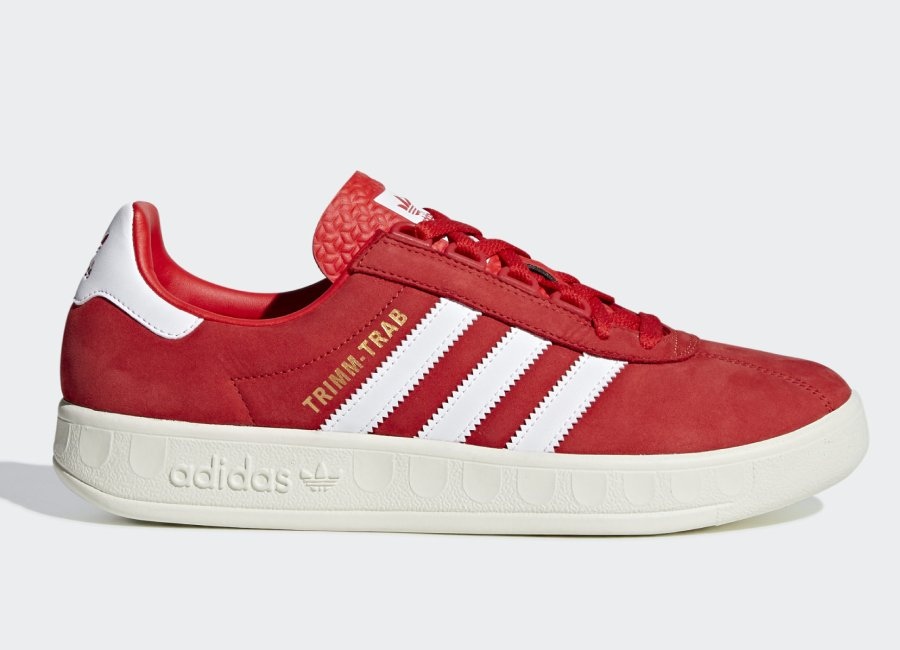 Adidas Trimm Trab 'Rivalry Pack' - Active Red / Ftwr White / Gold Met