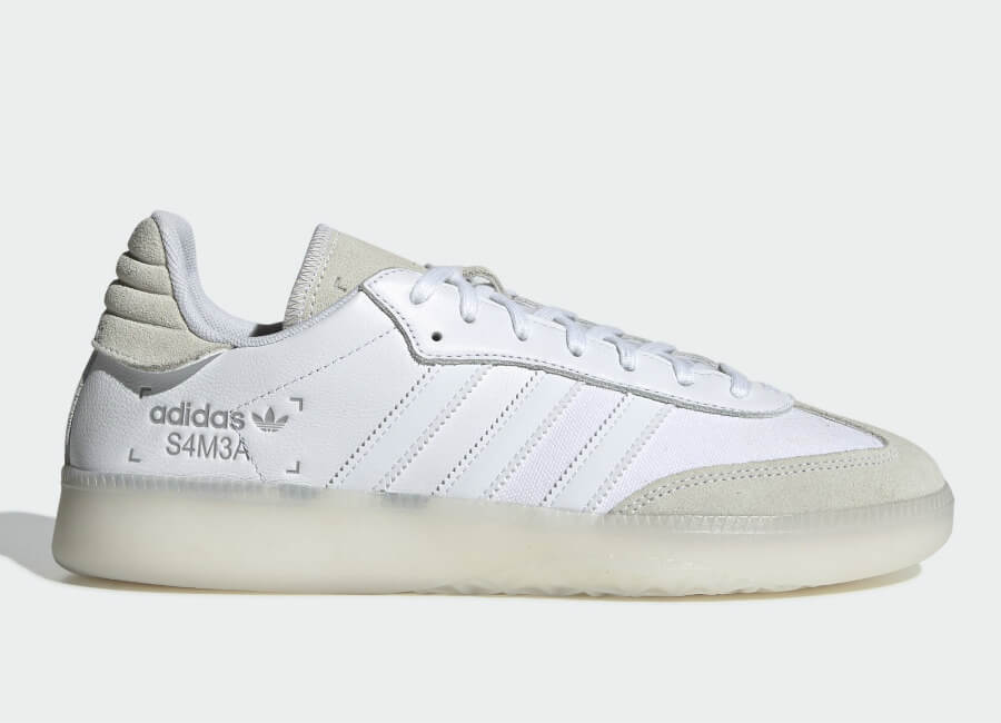 Adidas Samba RM Shoes - Ftwr White / Ftwr White / Grey Two