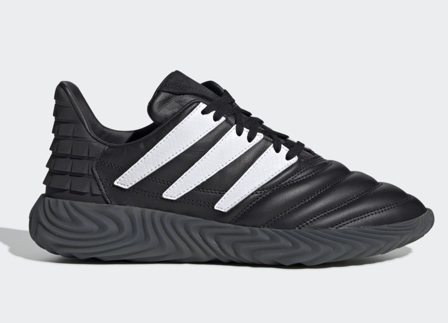 Adidas Sobakov Shoes - Core Black / Cloud White / Solar Red #adidasfootball
