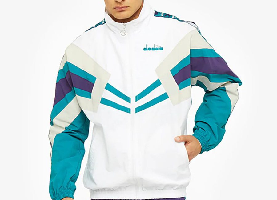 Diadora Track Jacket MVB - Optical White