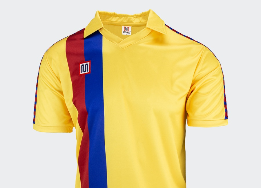 Meyba Barcelona Away Shirt 1984-1989 - Yellow