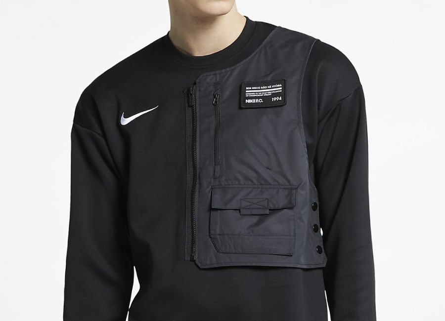 Nike F.C. Football Crew - Black / Black / White