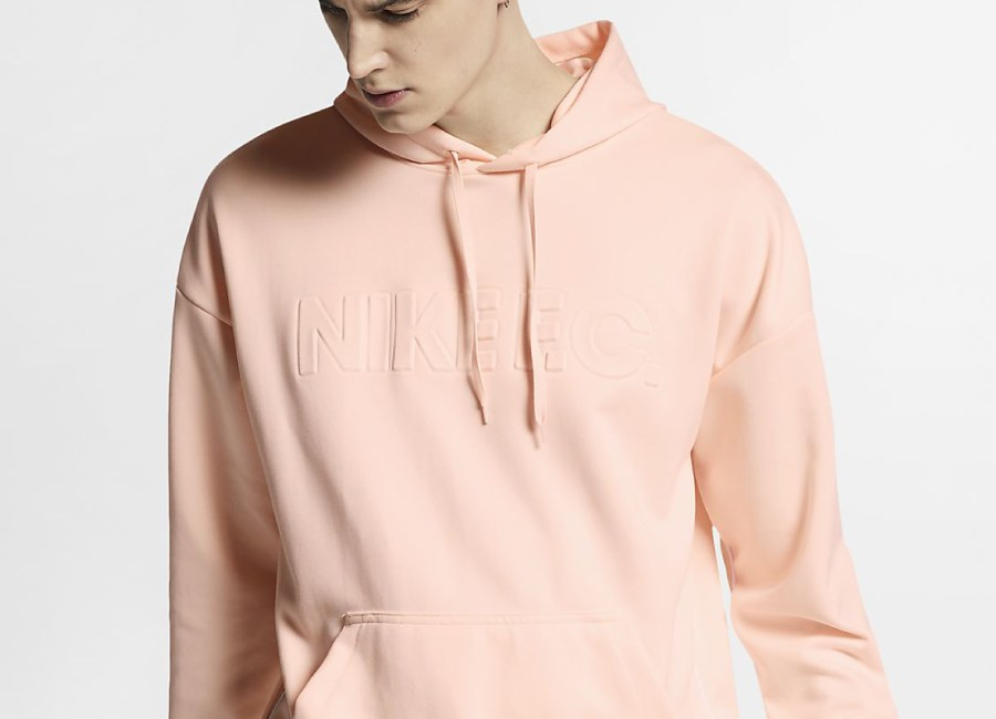 Nike F.C. Football Hoodie - Guava Ice / White