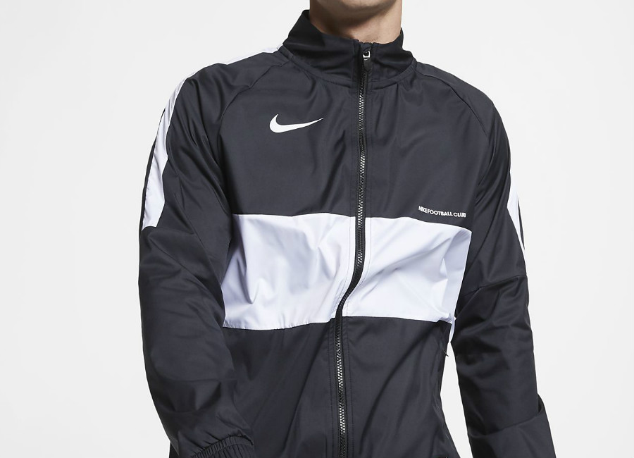 Nike F.C. Football Jacket - Black / White / White / White