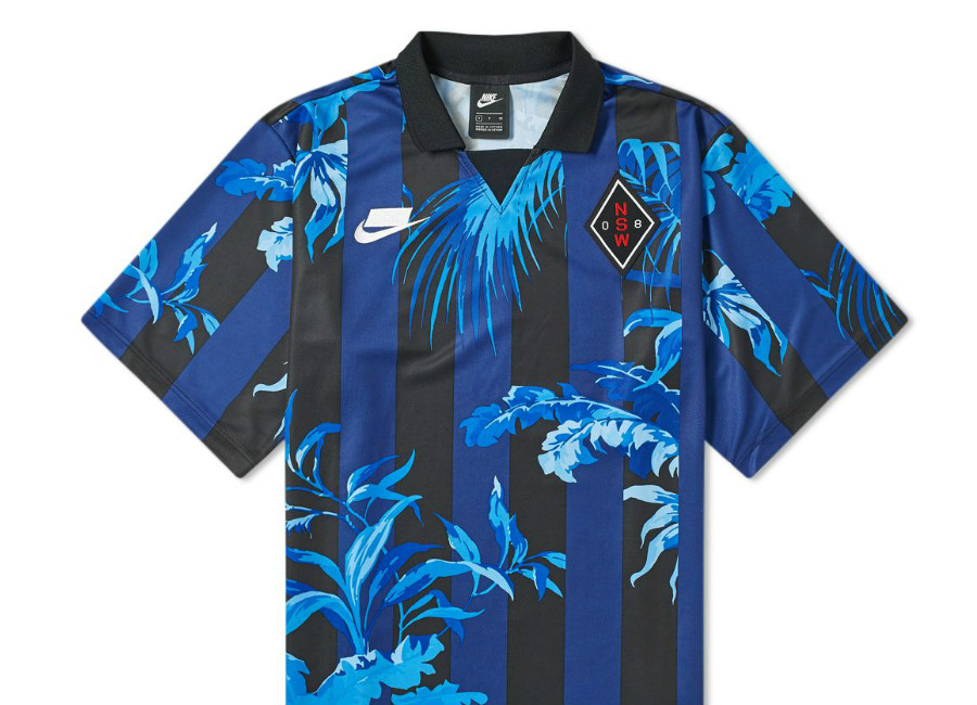 "Nike NSW ""Palm Tree"" Football Top - Blue Void / Black / White"