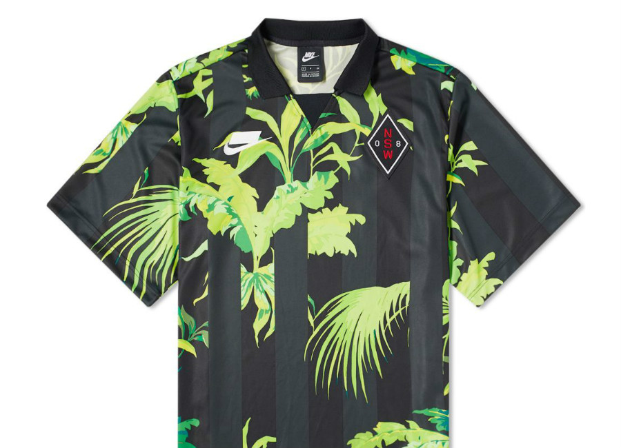 "Nike NSW ""Palm Tree"" Football Top - Cyber / Black / White"