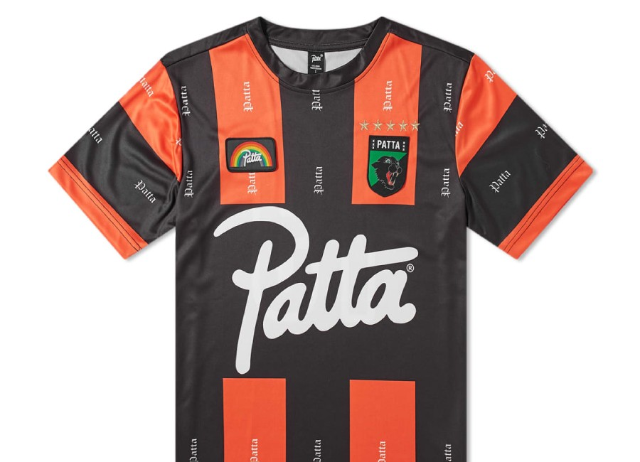 Patta Olde Football Jersey - Black / Orange