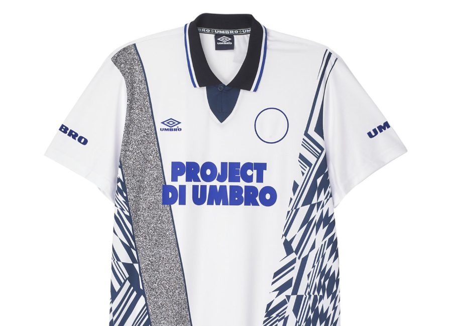Umbro Azteca Football Jersey - White / Medieval Blue / Deep Surf
