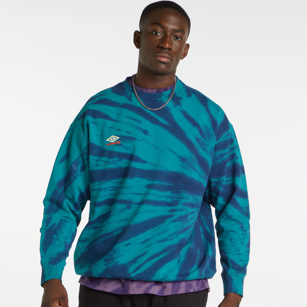 Umbro Calidoscope Sweat - Bayou / Ink / Soft Yellow / Rio Red