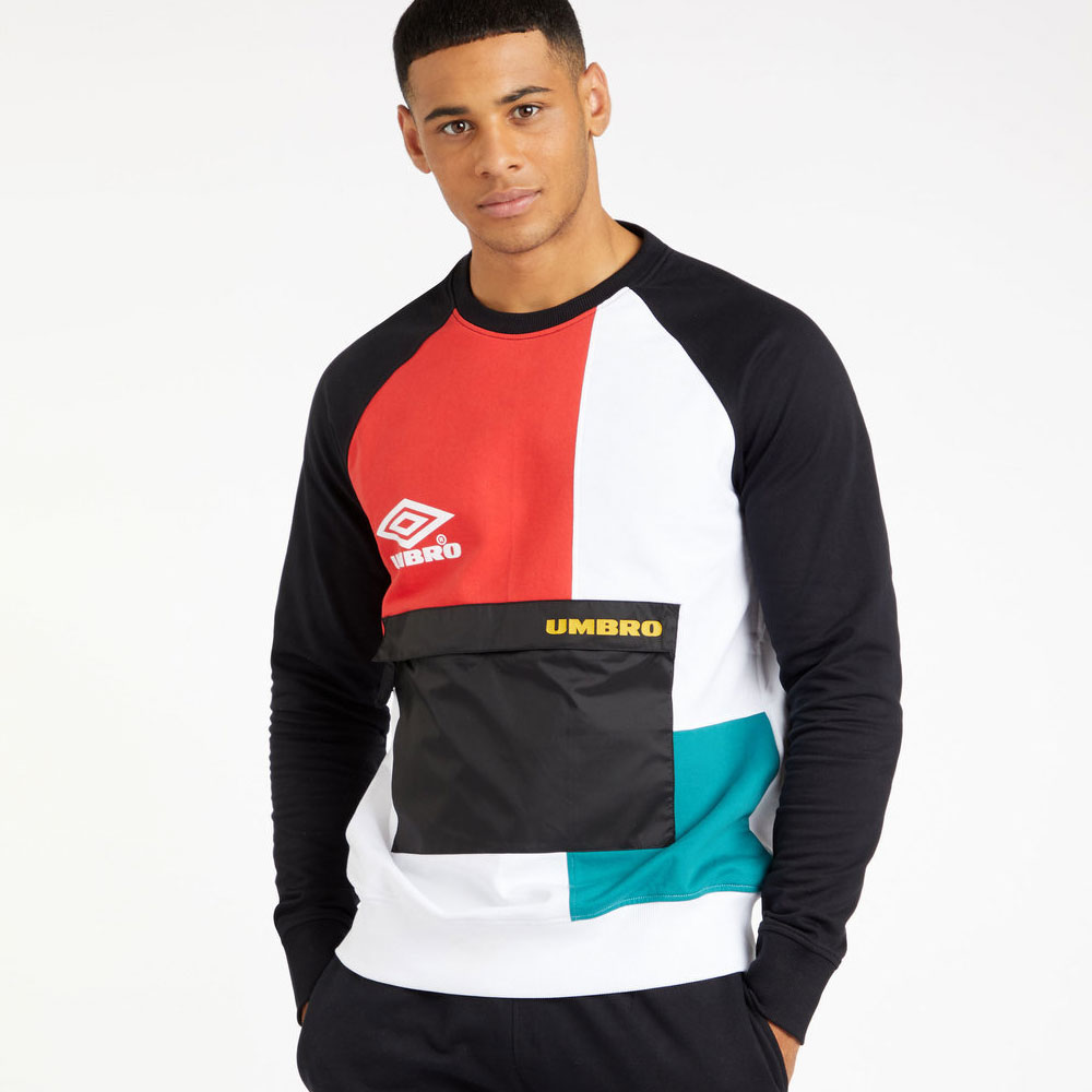 Umbro Cypher Sweat - Black / Bright White / Rio Red / Bayou / Saffron