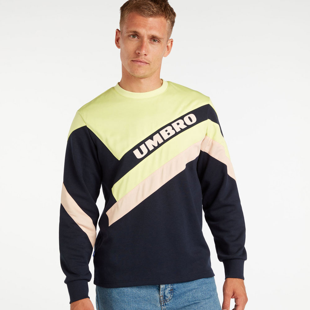 Umbro Sector Crew Sweat - Nightfall / Absinth / Cameo Rose