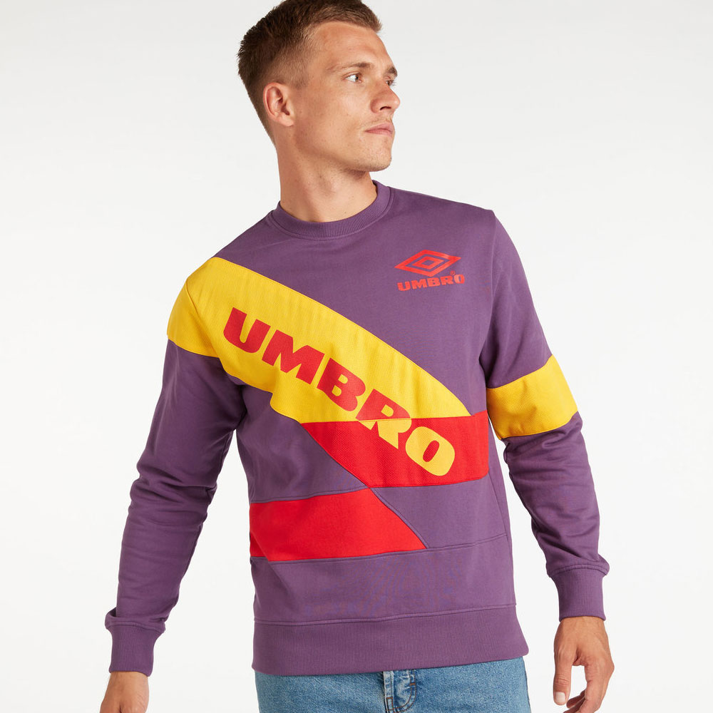 Umbro Voyager Crew Sweat - Cosmos / Yellow / Haze / Fig