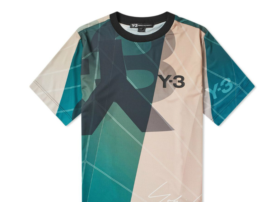 Y-3 All Over Print Football Shirt - Champange