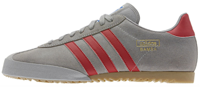 Adidas Bamba - Aluminium / Collegiate Red / Metallic Gold