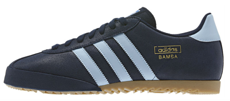 Adidas Bamba - New Navy / Argentina Blue / Metallic Gold