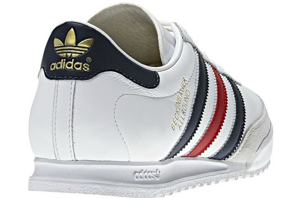 adidas Beckenbauer White / Light Scarlet / Collegiate Navy
