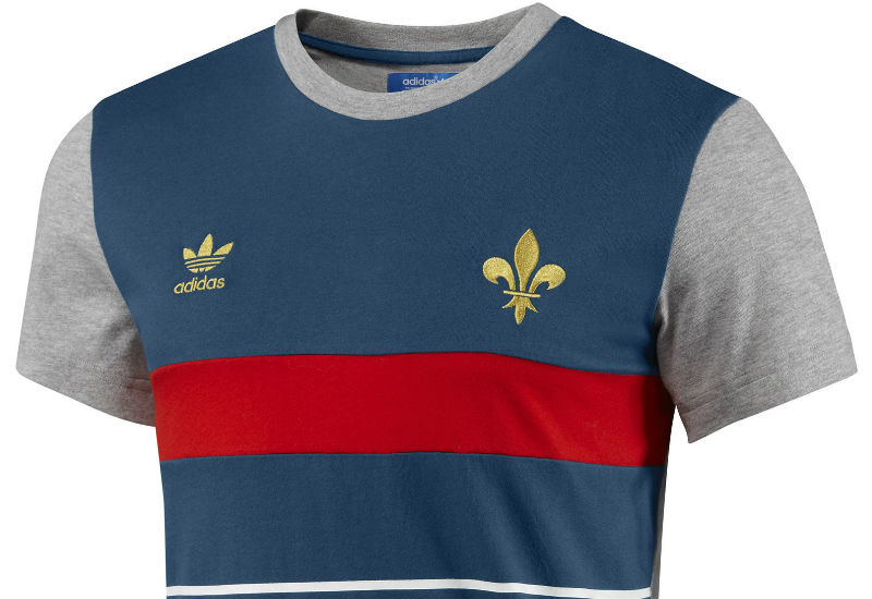 A men's t-shirt with vintage French style, the France Football Tee features classic team colours and an embroidered fleur-de-lys on the chest.