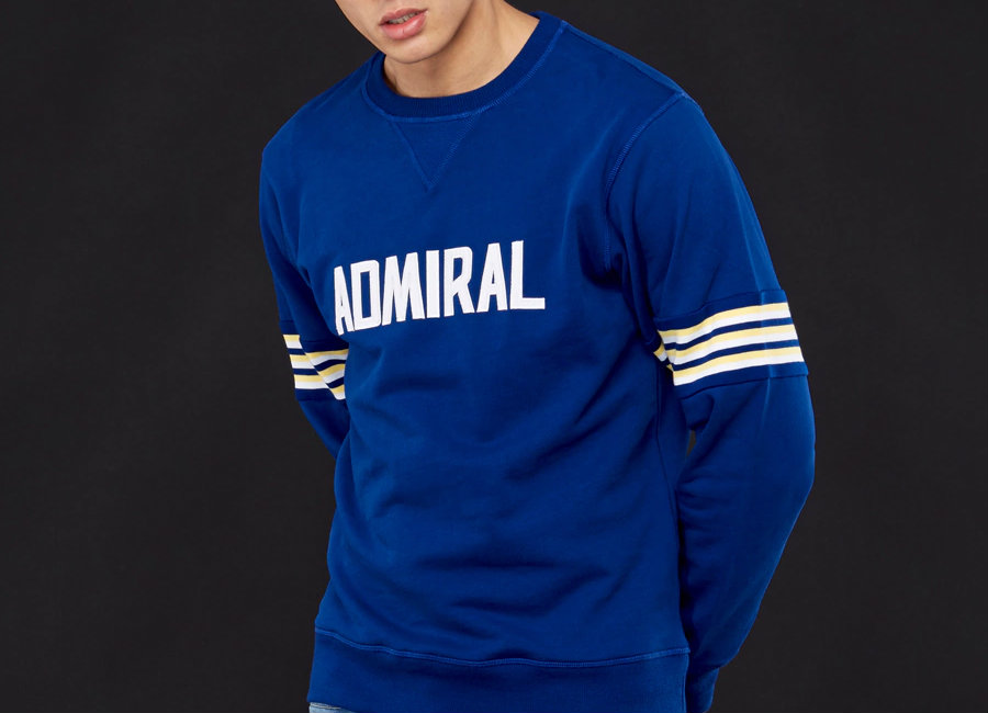 Admiral 1974 Sweatshirt - Royal / White / Lemon