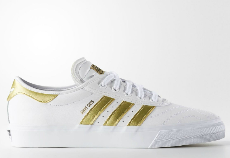Adidas Adiease Premiere Away Days Shoes Running White Metallic Gold