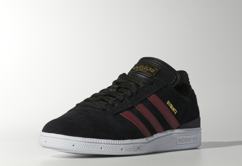 Adidas Busenitz Shoes Core Black Collegiate Burgundy White