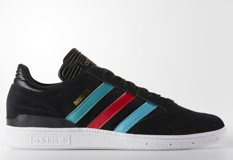 Adidas Busenitz Shoes Core Black Light Scarlet