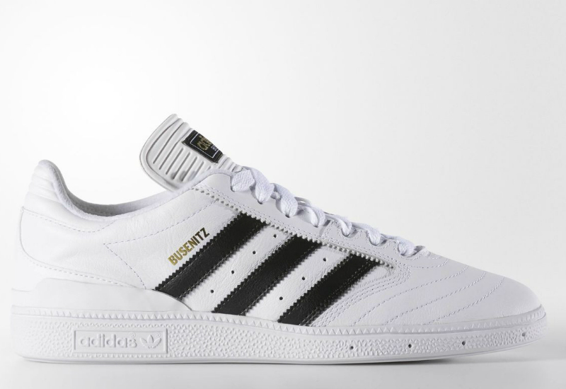 Adidas Busenitz Shoes White Core Black Gold Metallic