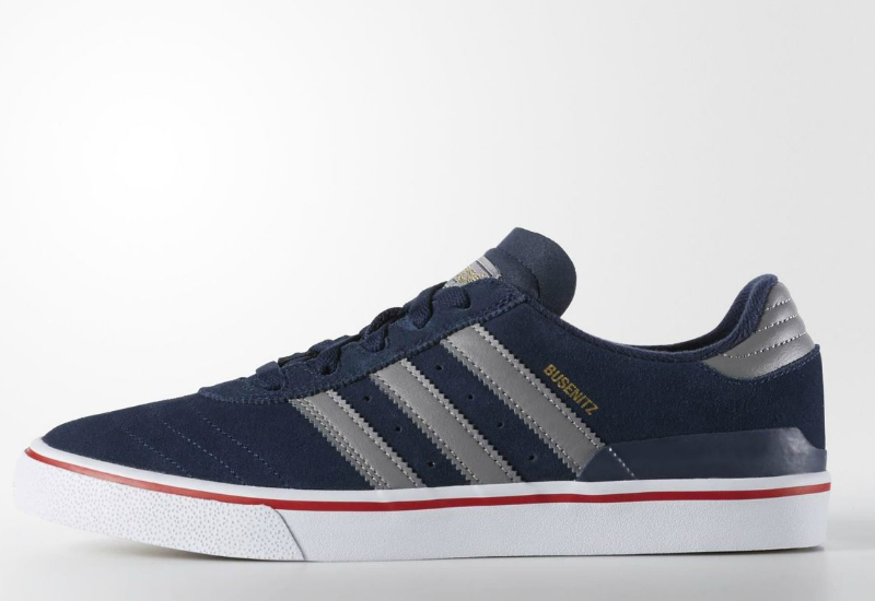 Adidas Busenitz Vulc Shoes Collegiate Navy Solid Grey Scarlet