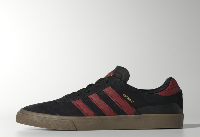 Adidas Busenitz Vulc Shoes Core Black Collegiate Burgundy Gum