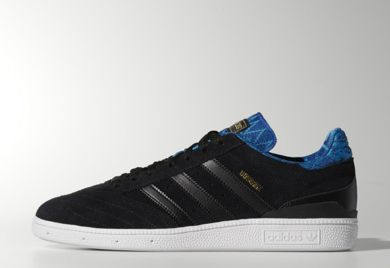 Adidas Busenitz Vulc Shoes Core Black Collegiate Royal Solar Blue