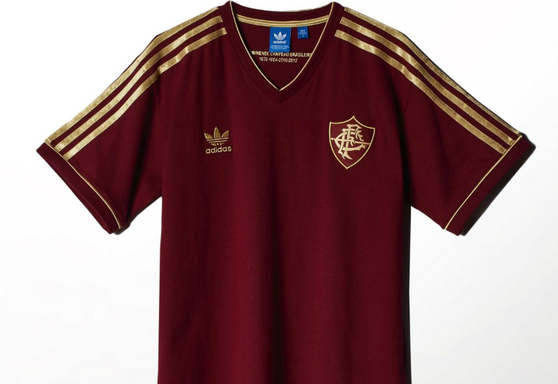 Adidas Fluminense Retro Football Shirt Collegiate Burgundy Light Football Gold