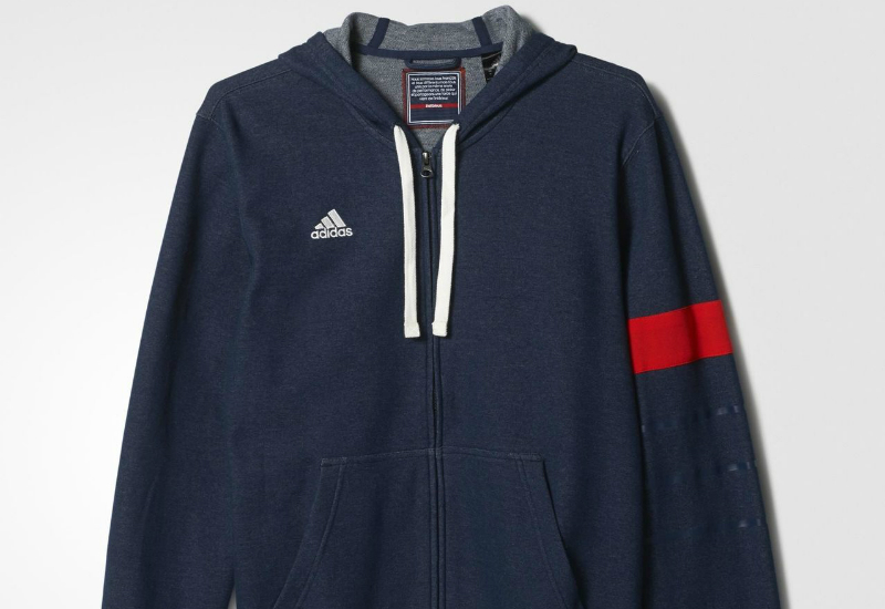 Adidas Host Country Hooded Jacket Collegiate Navy Red