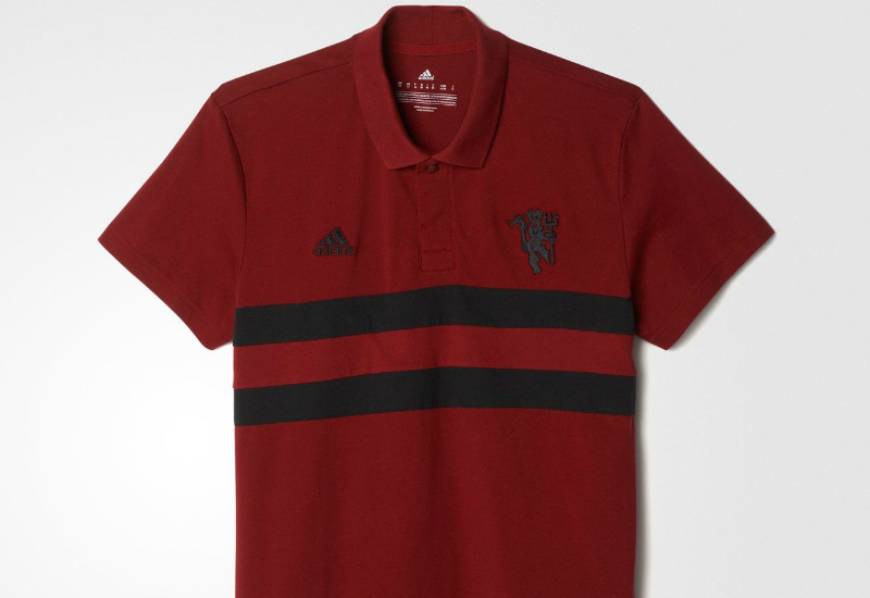 Adidas Manchester United Fc Polo Shirt Collegiate Burgundy