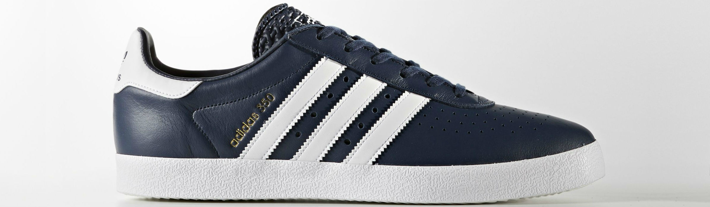 Adidas 350 Shoes Collegiate Navy Footwear White Gold Metalic Full