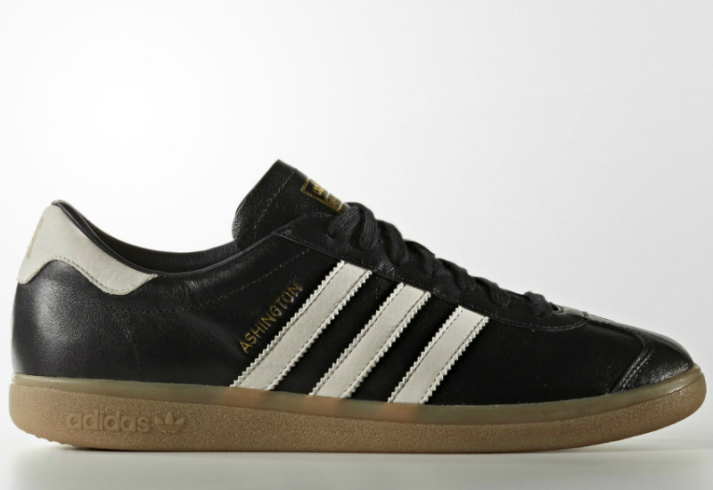 Adidas Ashington Core Black Running White Gold Metallic