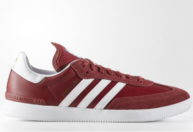Adidas Samba Adv Shoes Collegiate Burgundy Footwear White Bluebird