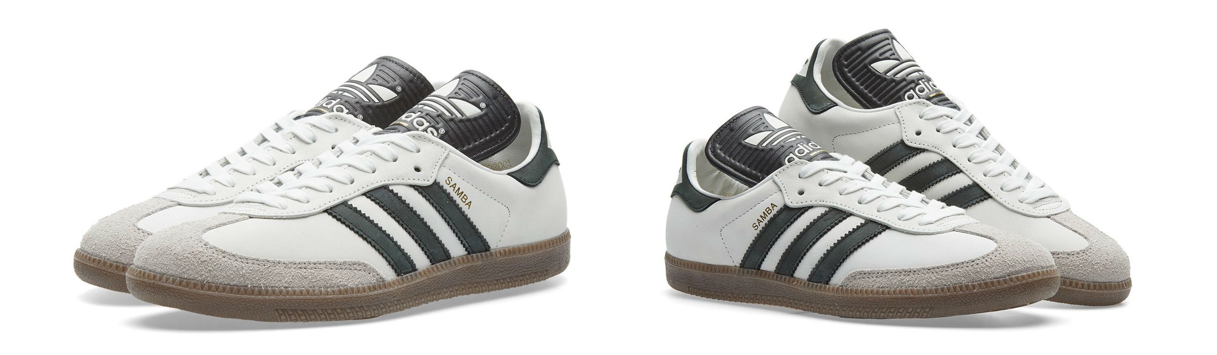 Adidas Samba Made In Germany Shoes Vintage White Core Black Gum Full