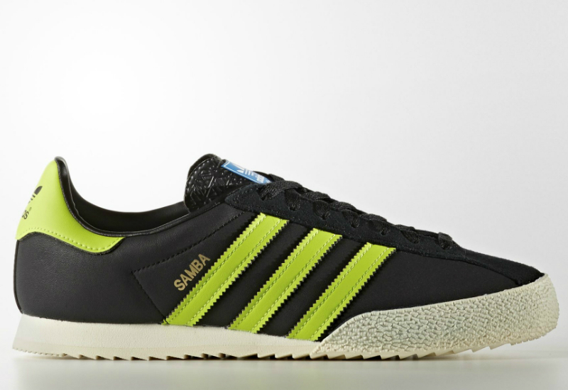 Adidas Samba Spzl Shoes Core Black Solar Slime Gold Met