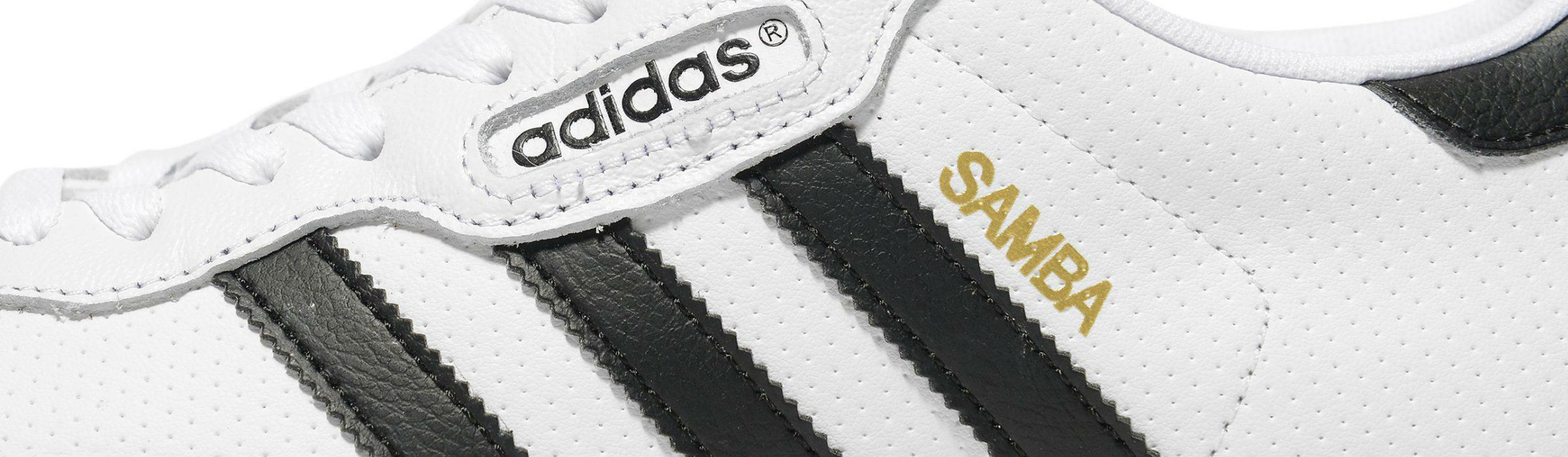 Adidas Samba Super White Black Full