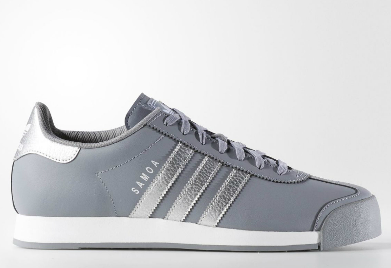 Adidas Samoa Shoes Grey Metallic Silver Running White