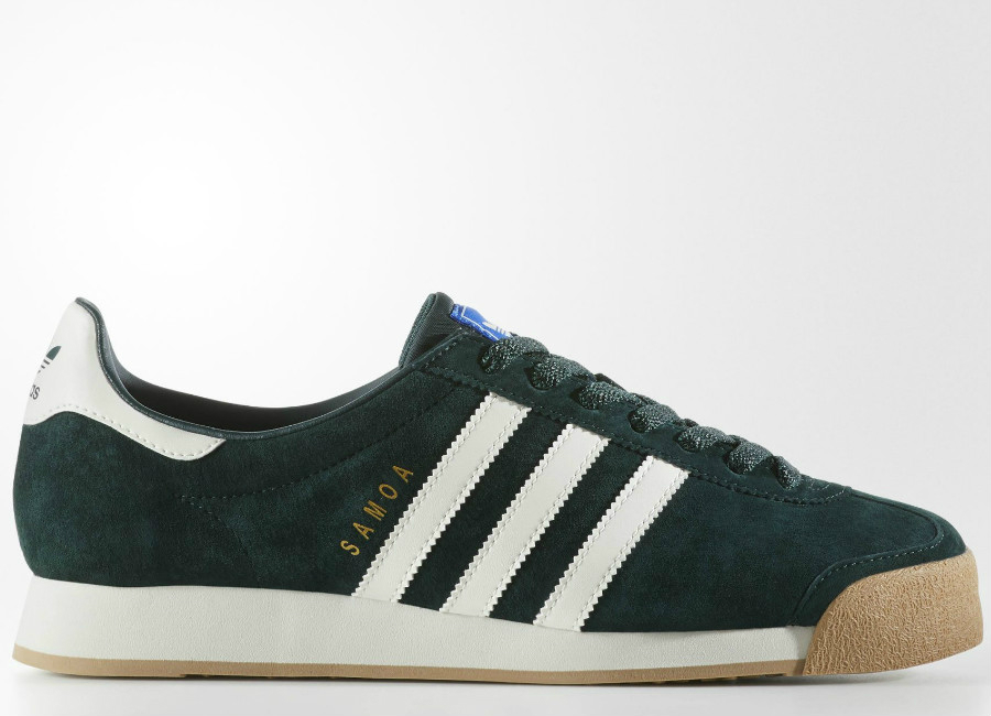 Adidas Samoa Vintage Shoes Green Night Chalk White Core Black