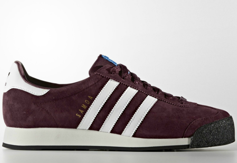 Adidas Samoa Vintage Shoes Maroon White Bluebird