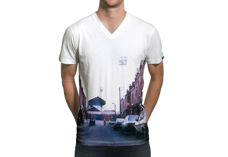 Copa Stadium Street View V Neck T Shirt White 1